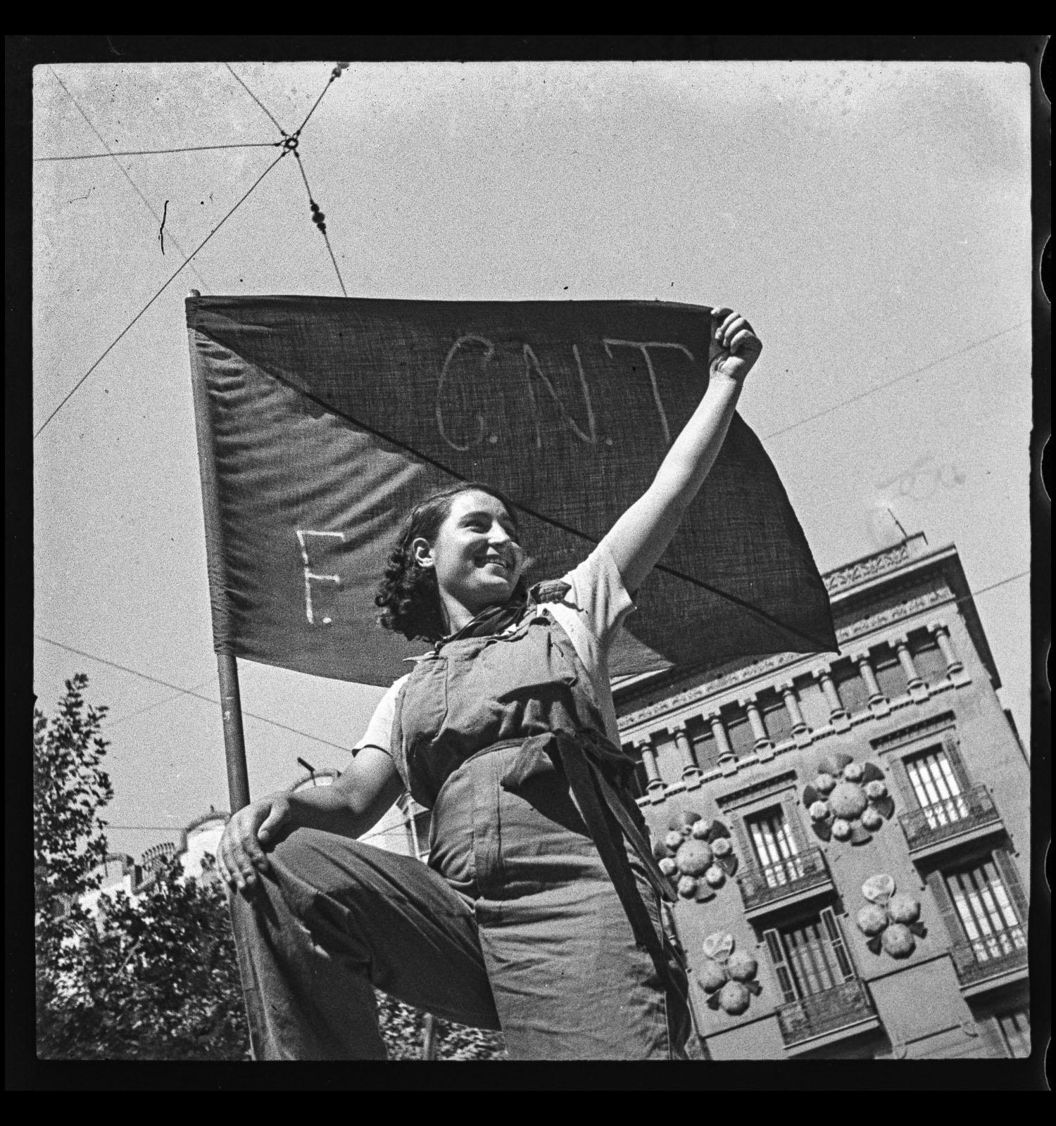 Antoni Campañà. Barricada. Carrer Hospital, Barcelona, 25 de juliol de 1936. Arxiu Campañà