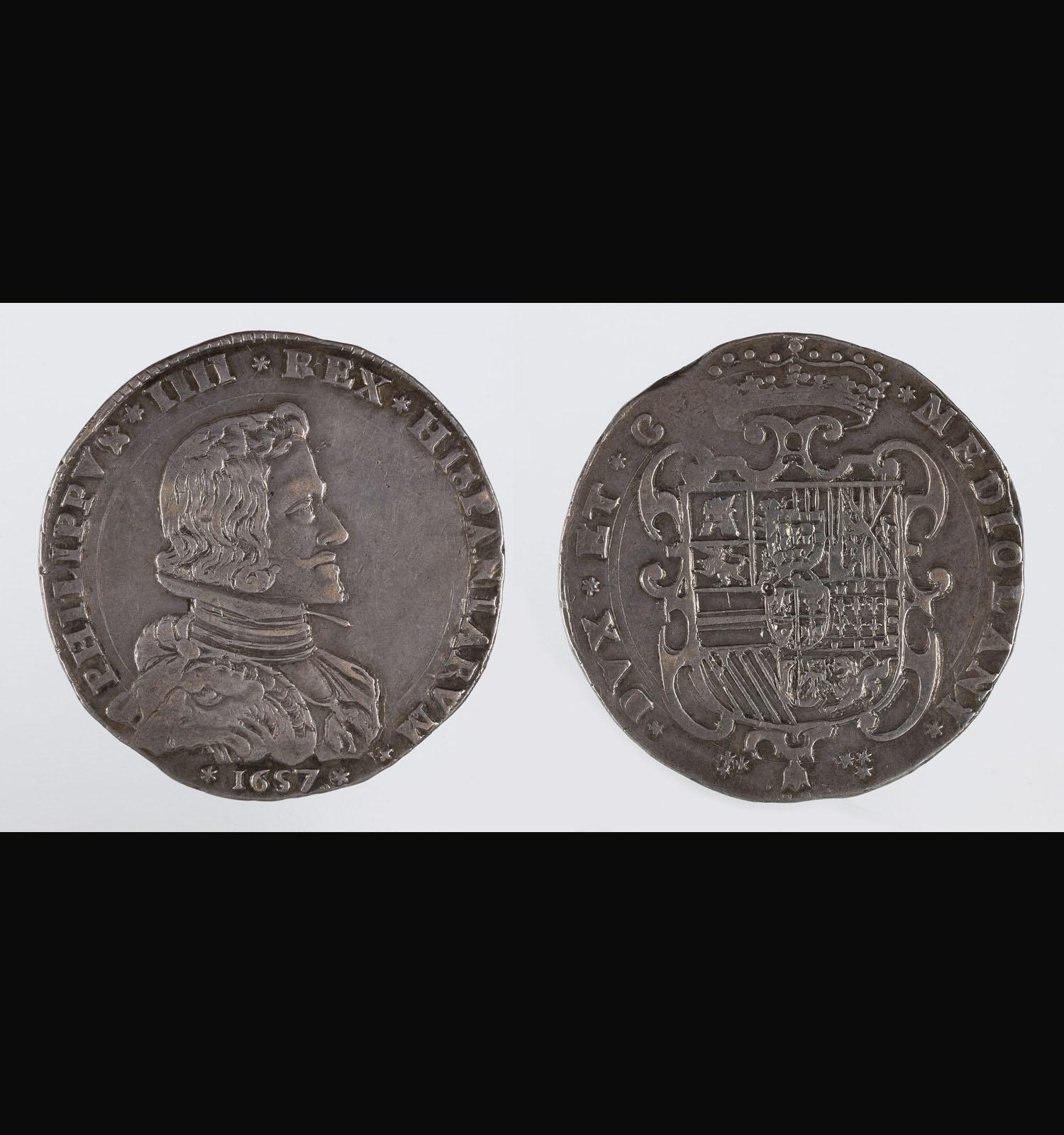 El metall de la moneda - Felip IV, ducató de Milà, 1657