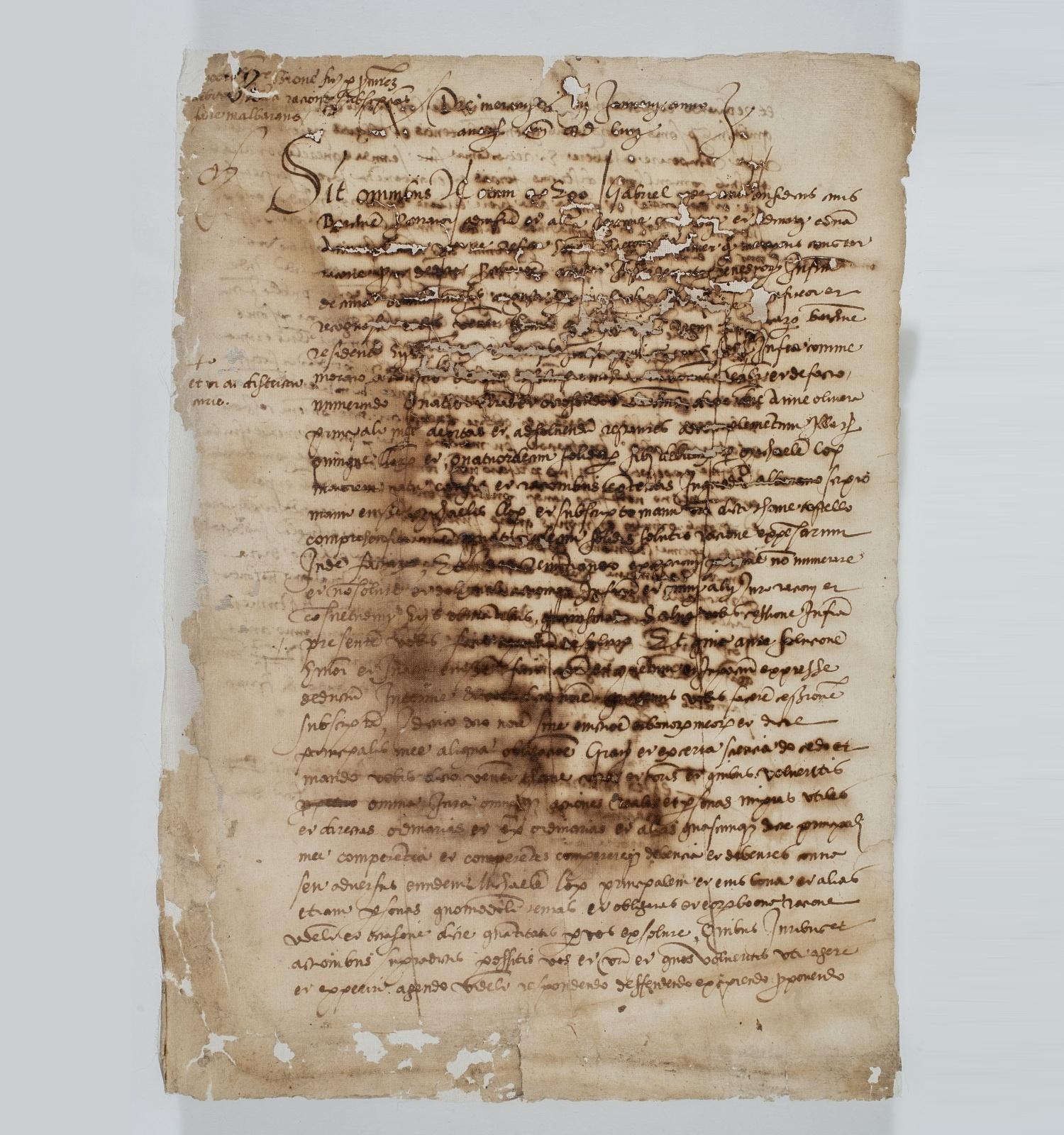 Document restaurat per Montserrat Negre