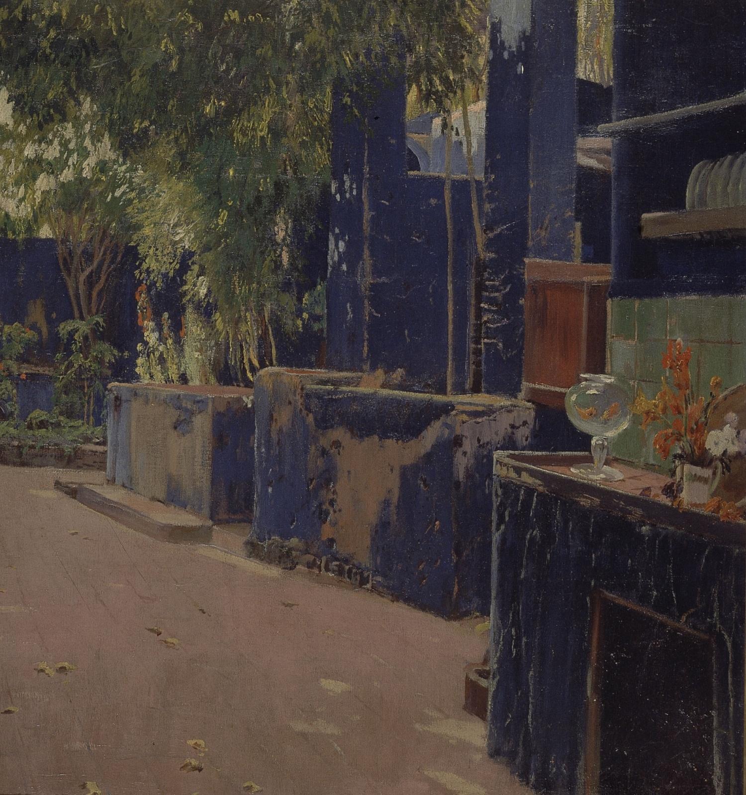 Pati blau (detall), Santiago Rusiñol, 1913