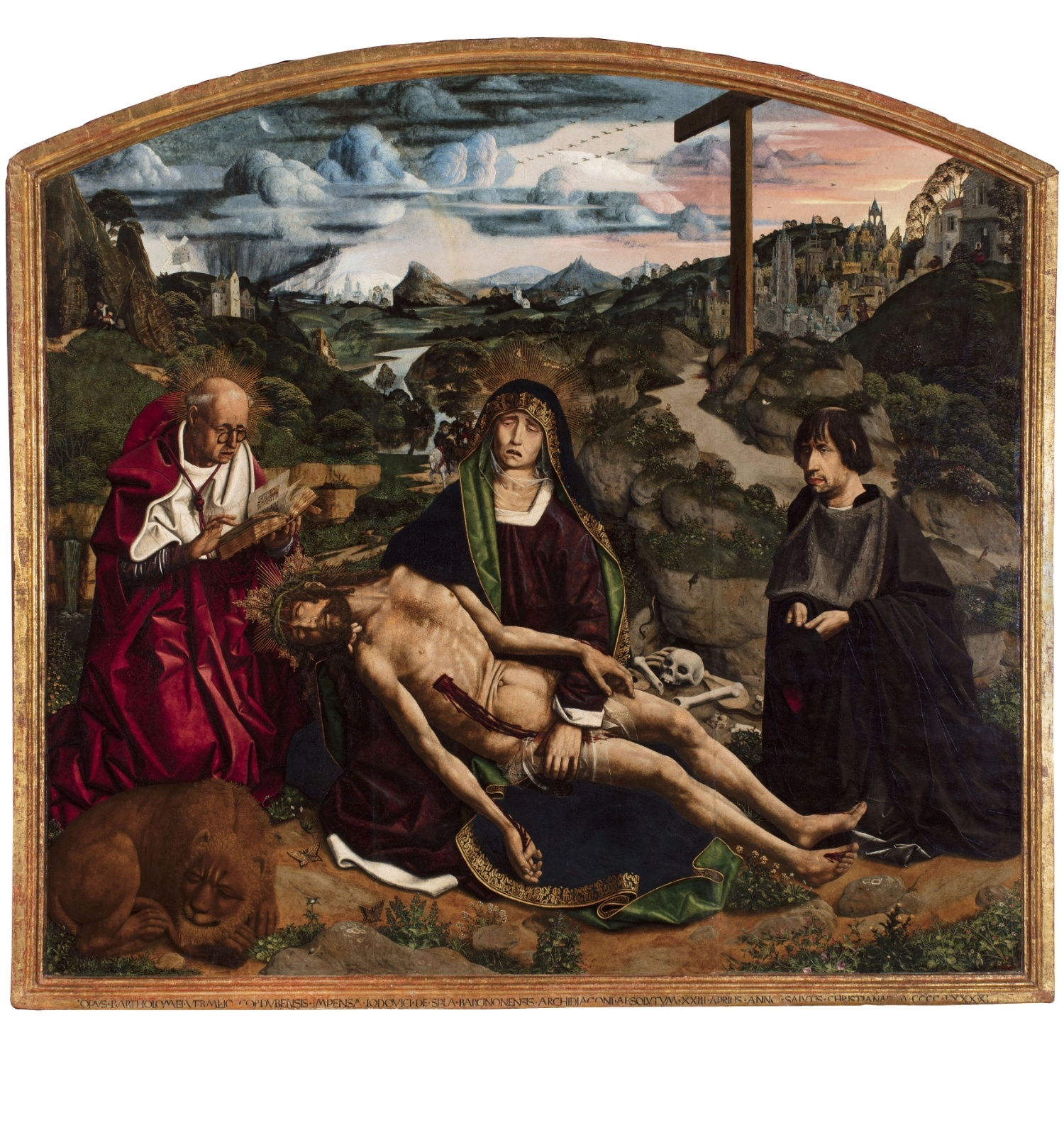 Bartolomé Bermejo. Pietat Desplà, 1490. © Catedral de Barcelona (Fotògraf: Guillem F-H)