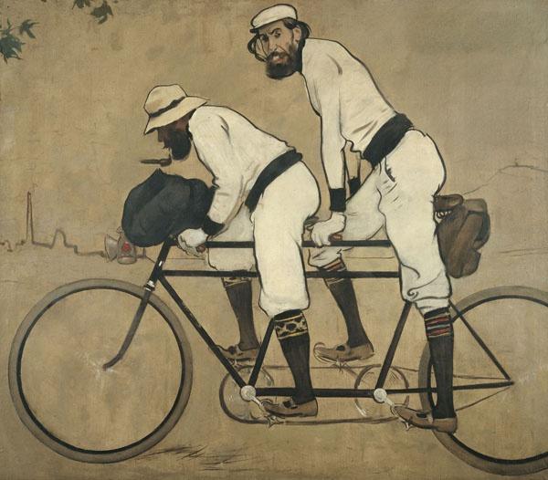 Ramon Casas y Pere Romeu en un tándem  Barcelona, 1897