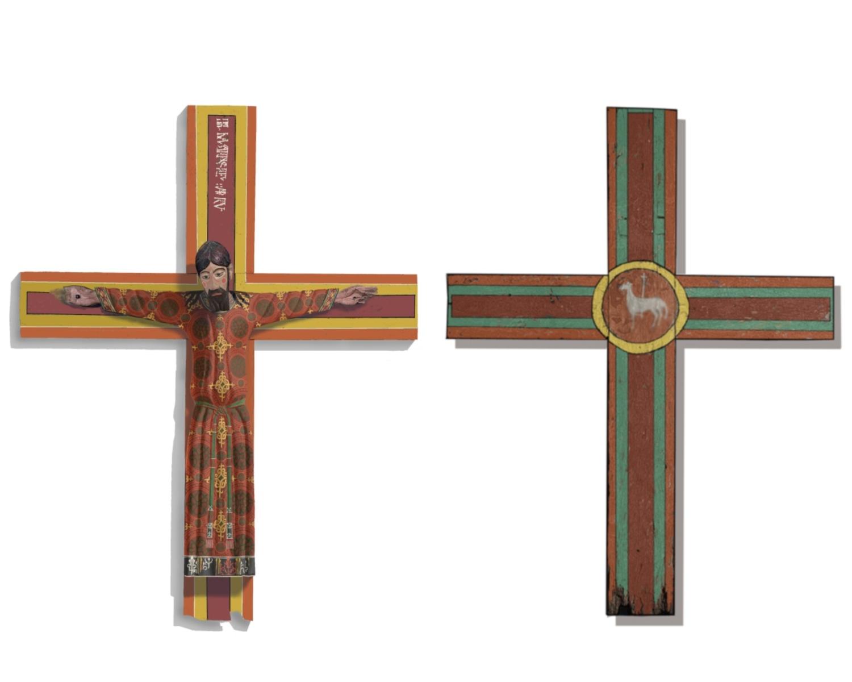 Reconstrucció virtual de la policromia de la túnica de Crist