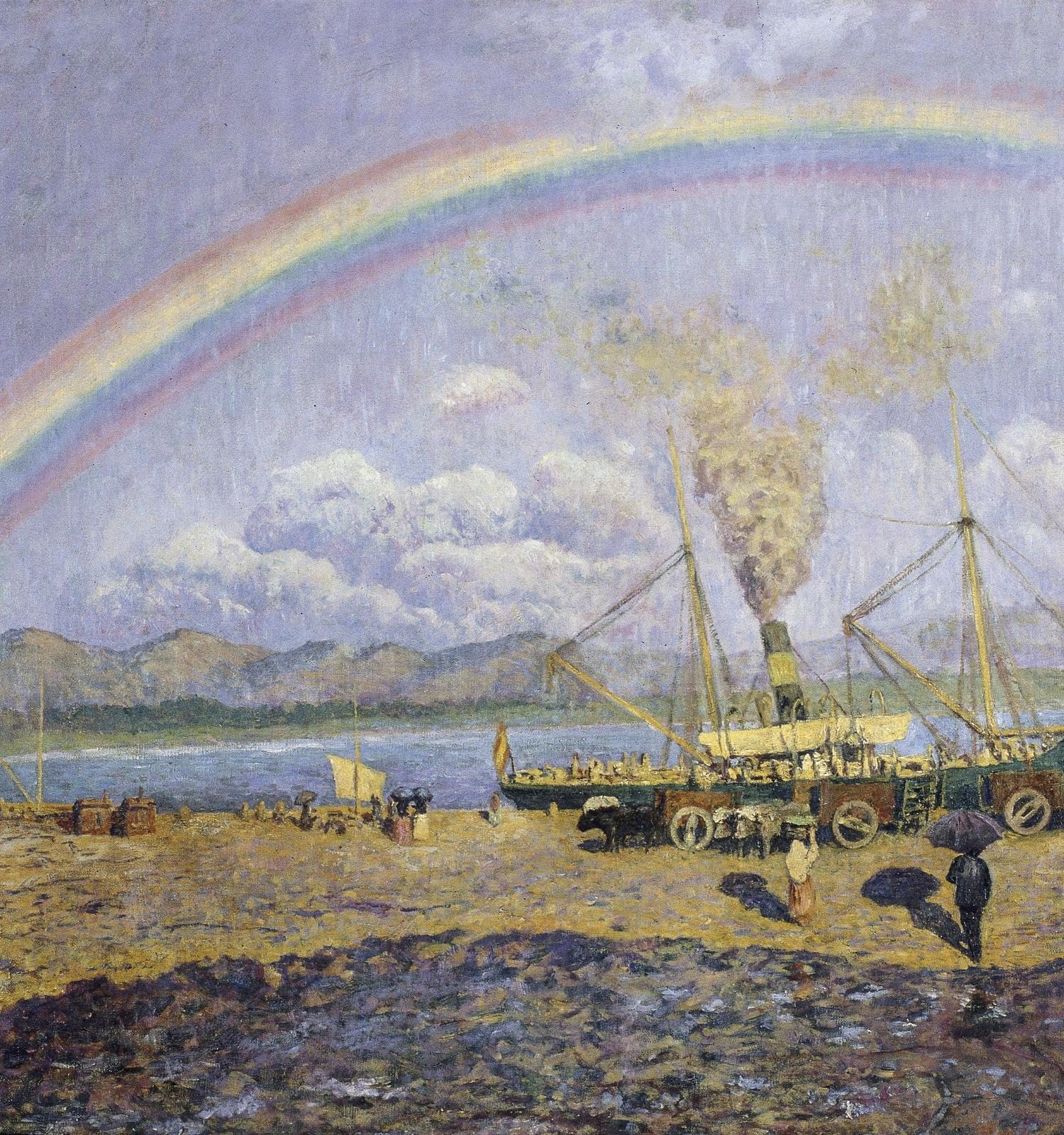 El xàfec. Badia de Santoña, Darío de Regoyos, 1900