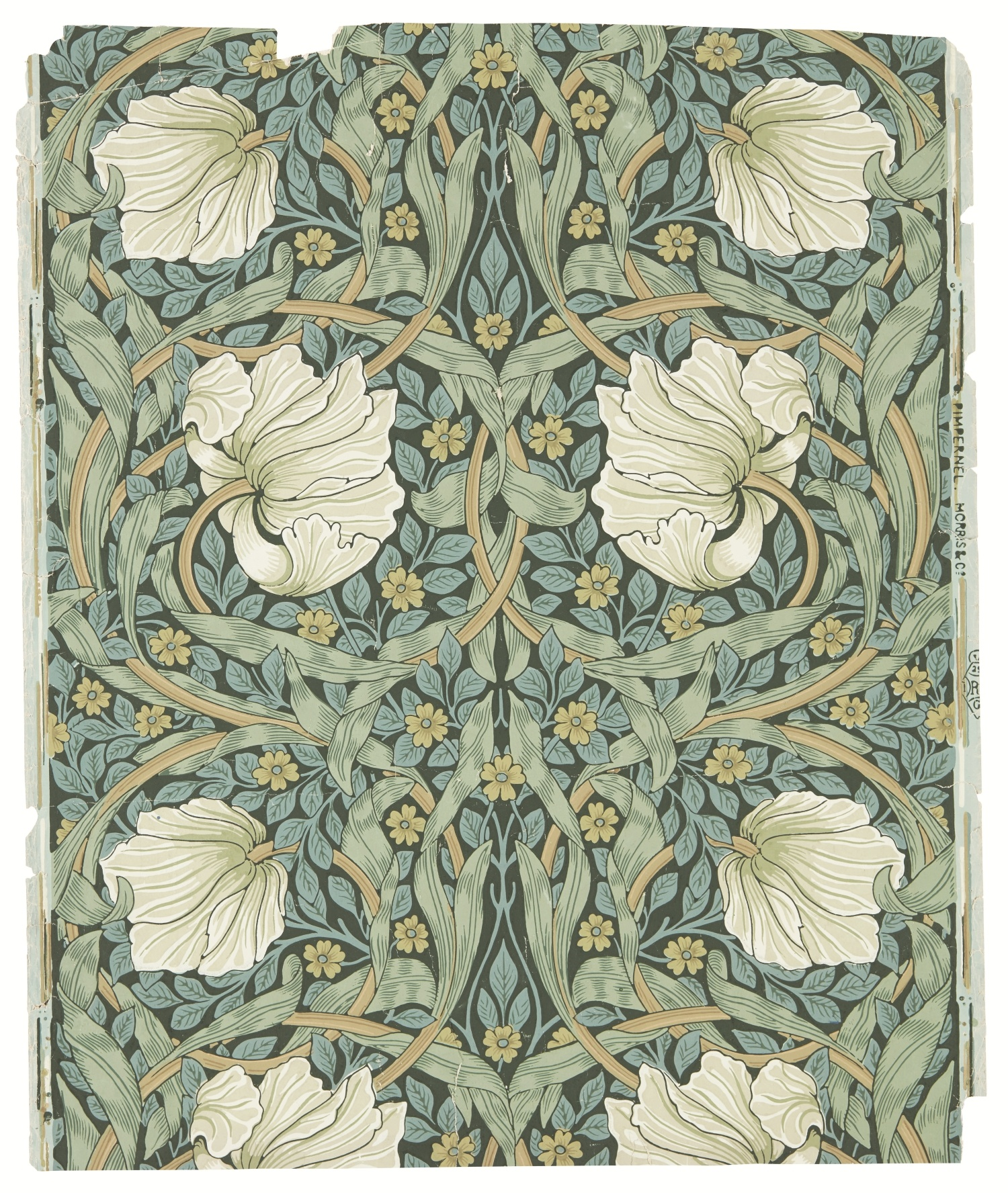 William Morris, Jeffrey & Co., Morris & Co. Paper pintat Pimpernel (Pimpinella), cap a 1876 © Morris & Co.