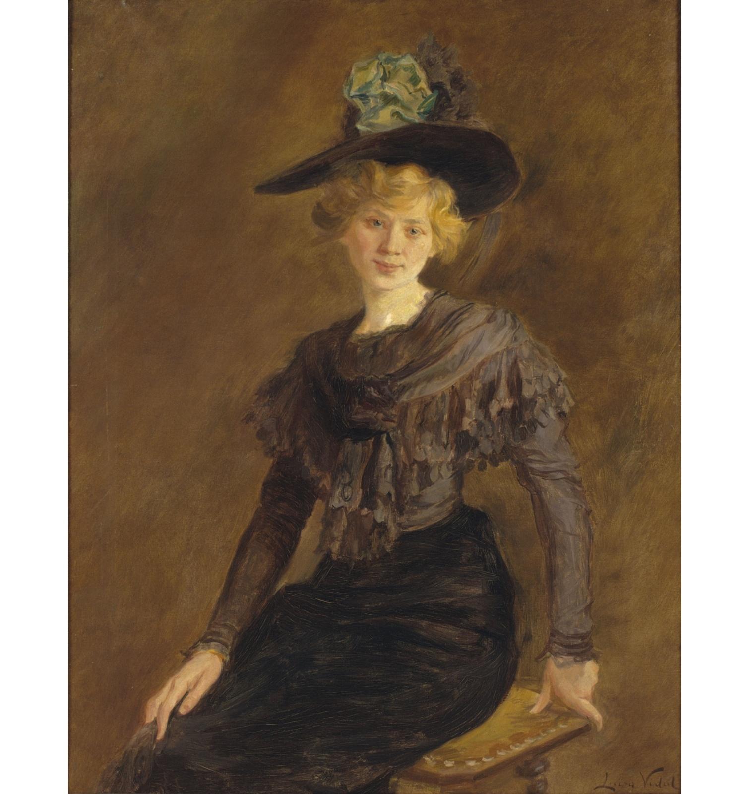 Retrat de Carlota Vidal, Lluïsa Vidal, cap a 1906