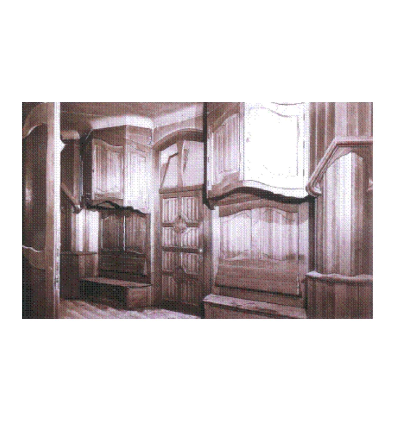 Arquibancs i dalts d'armari del vestíbul, foto 1966