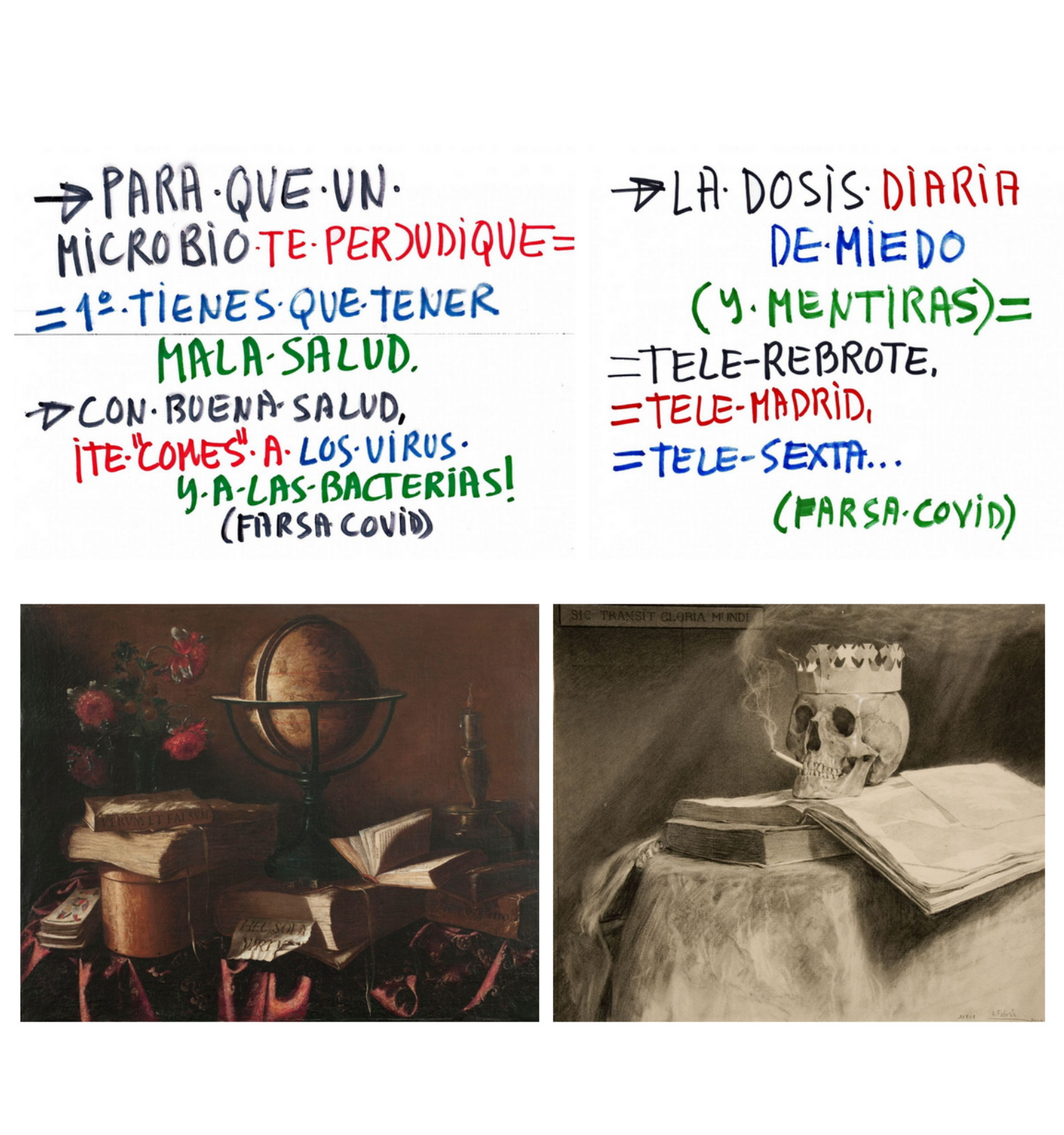 Obras hermanas. Vanitas y Octavillas «farsa.covid»