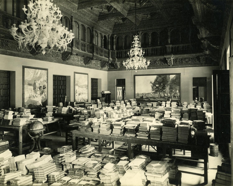 1933-1935 Sala d'actes de la Casa Comunal del Poble Espanyol