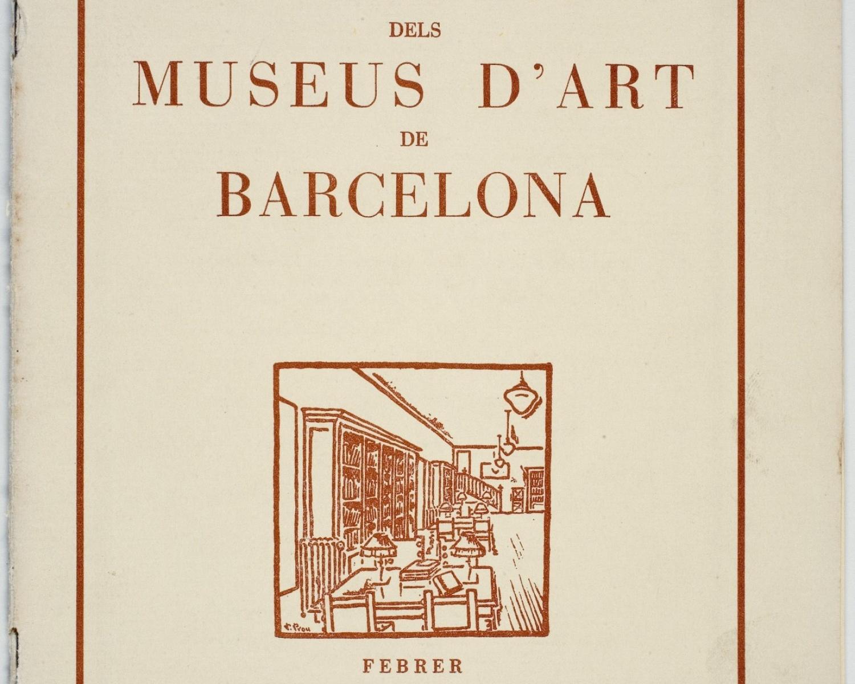 Coberta del Butlletí dels Museus d'Art, febrer de 1935