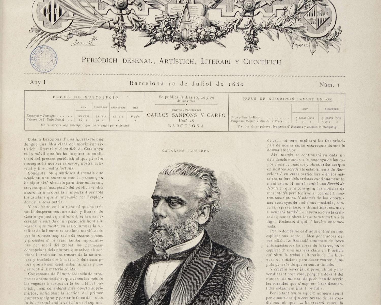 La Ilustració catalana. 10 jul. 1880, any 1, núm. 1. Barcelona, 1880-1917