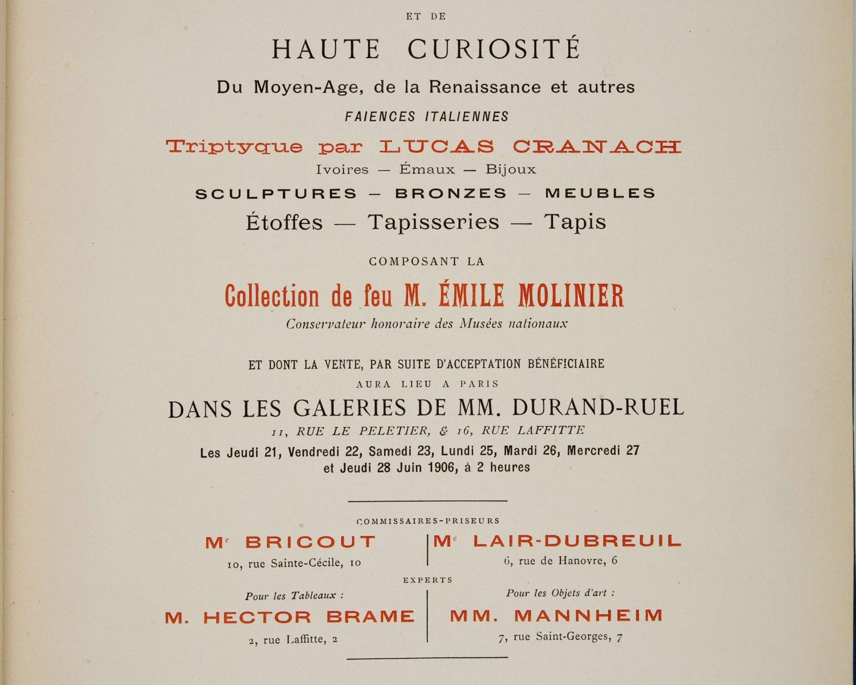 Catalogue des objets d'art et de haute curiosité du moyen-âge, de la Renaissance ...