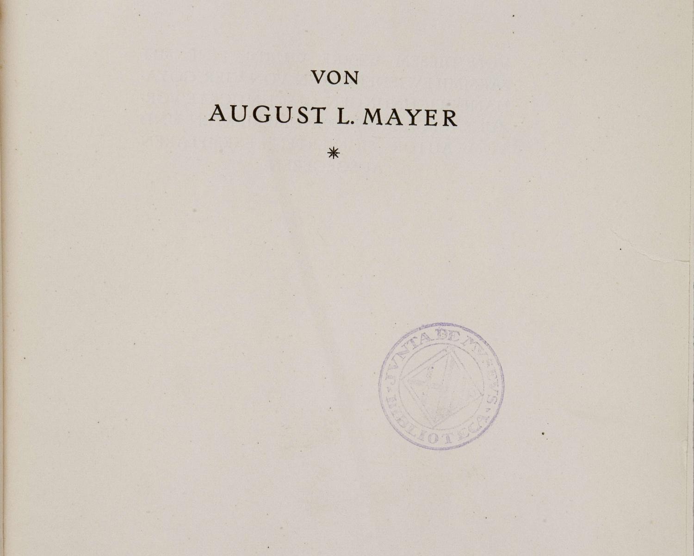 August Liebmann MAYER,Francisco de Goya. München: F. Bruckmann, 1923