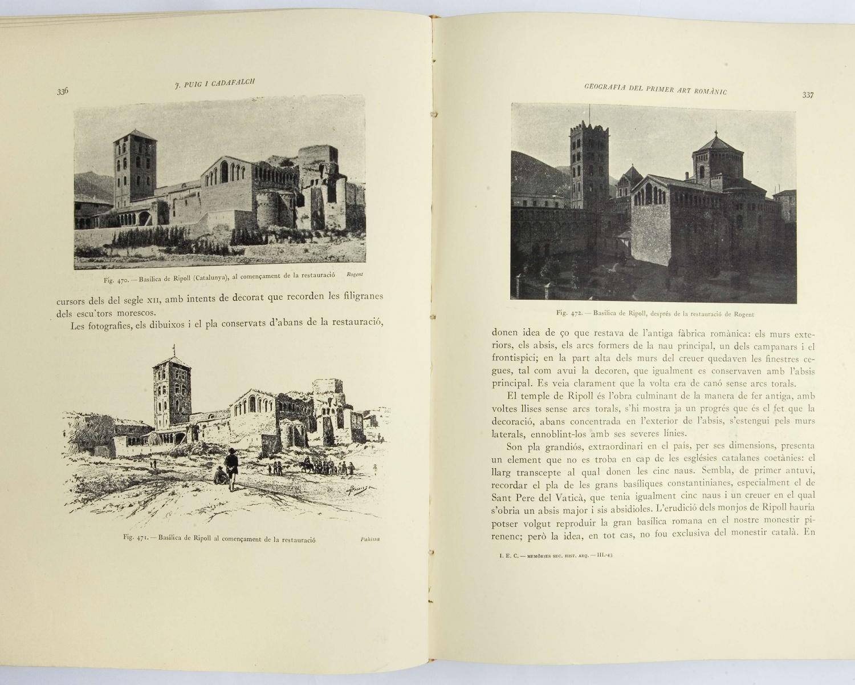 Josep PUIG i CADAFALCH, La Geografia i els orígens del primer art romànic. Barcelona: Institut d'Estudis Catalans, 1930