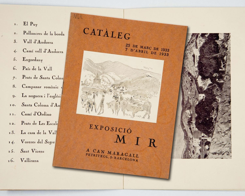 Mir: catàleg: exposició: 25 de març de 1933 7 d'abril de 1933. Barcelona: A Can Maragall, [1933]. [8]p.