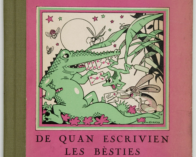 Manuel AMAT, De quan escrivien les bèsties: lletres per a infants. [Barcelona]: Comissariat de Propaganda de la Generalitat de Catalunya, 1937