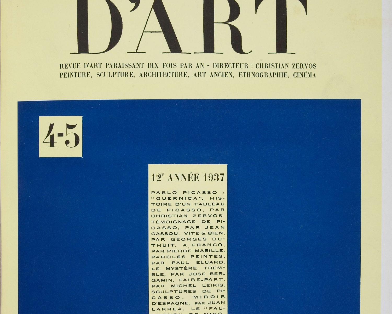 Cahiers d'art. 1937, any 12, núm. 4/5. Paris, 1926-1960