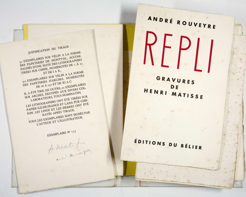 André ROUVEYRE, Repli. [Paris]: Éditions du Bélier, [1947]