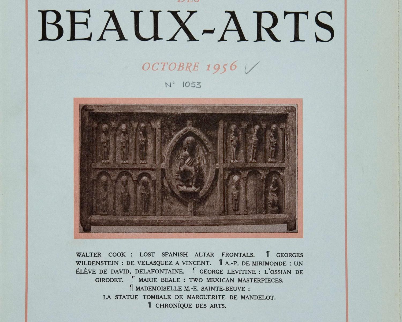 Gazette des beaux-arts. Oct. 1956, any 98, núm. 1053. Paris, 1859-2002