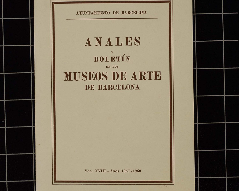 Anales y boletín de los museos de arte. 1960, vol. 14. Barcelona, 1941-1968