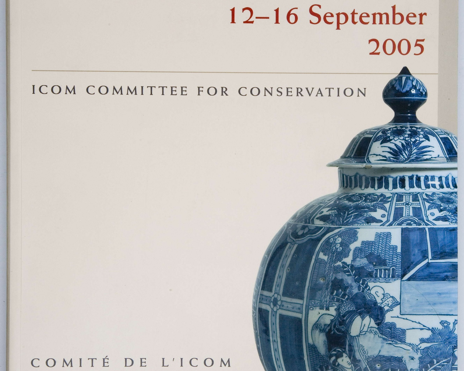 ICOM Committee for Conservation. 14th Triennial Meeting 12-16 september 2005: preprints. London: James & James, cop. 2005