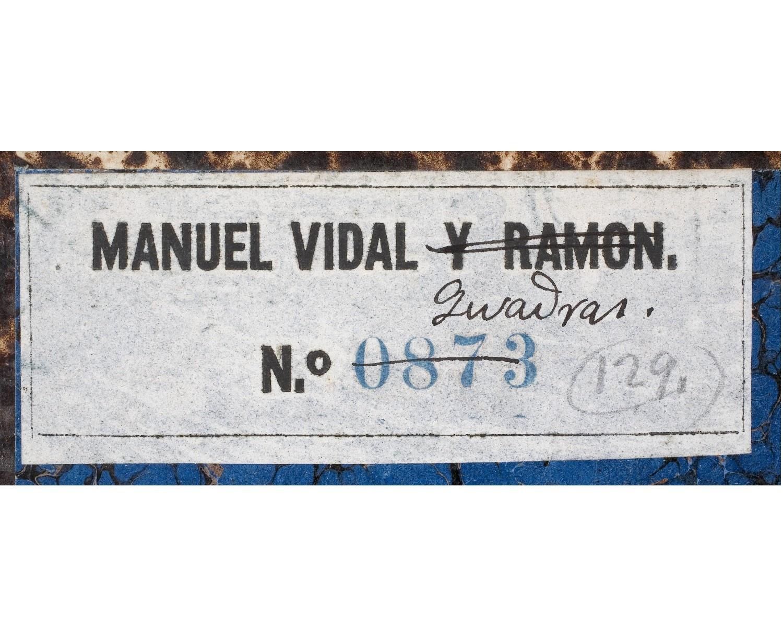 Etiqueta de la Biblioteca Vidal i Quadras