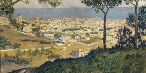 Darío de Regoyos - Barcelona desde Vallvidrera - 1912