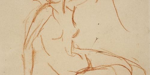 Ricard Canals - Apunte de desnudo femenino - Hacia 1920