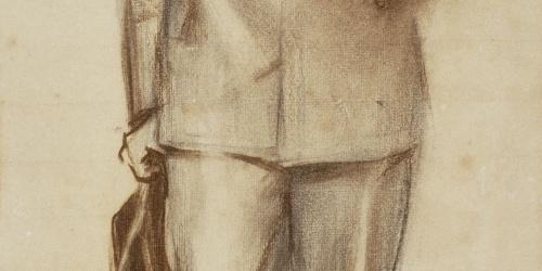 Ramon Casas - Portrait of Josep Llimona - Circa 1900