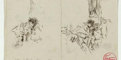 Marià Fortuny - En el tren de Nápoles a Roma - Hacia 1874
