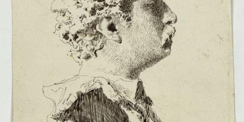 Marià Fortuny - Bust de Fortuny, per Vincenzo Gemito - Cap a 1874