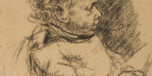 Francesc Gimeno - Niño de perfil - 1890