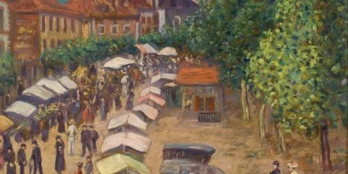 Anònim - Còpia d'«El mercat de Dax» de Darío de Regoyos - Cap a 1909-1947