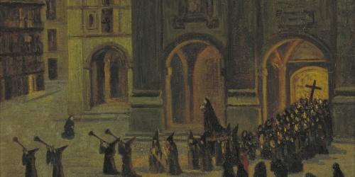 Darío de Regoyos - Madrugada del Viernes Santo en Orduña - 1903