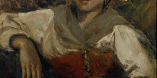 Francesc Gimeno - Peasant Girl - Madrid, 1886