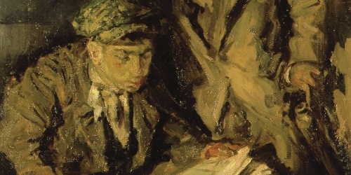 Francesc Gimeno - Reading the newspaper - Barcelona, 1916