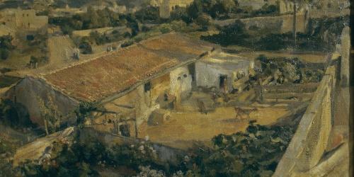 Francesc Gimeno - Corral with Goats - Barcelona, circa 1889-1899