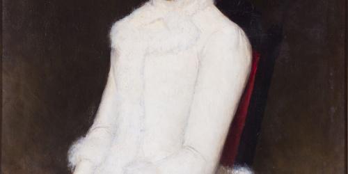 Dionís Baixeras - Maria del Pilar Casanovas Fortuny, dona de l'artista - 1885