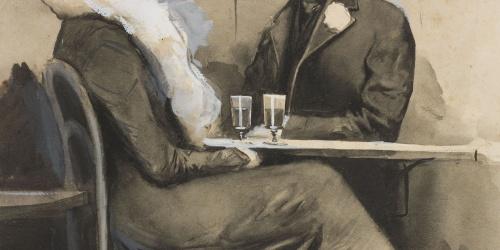 Joan Cardona - «Prenent l'aperitiu» - Circa 1903