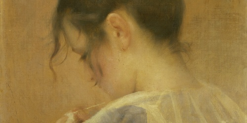Laureà Barrau - Retrato de Maria Baster i Robert - Hacia 1900