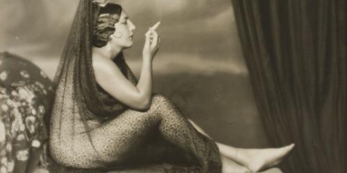 Josep Masana - Untitled [Maja smoking] - Between 1920-1940