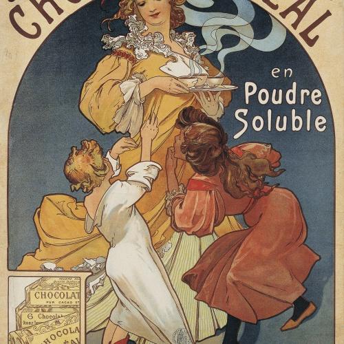Alphonse-Marie Mucha - Chocolat Idéal - Anterior a 1897