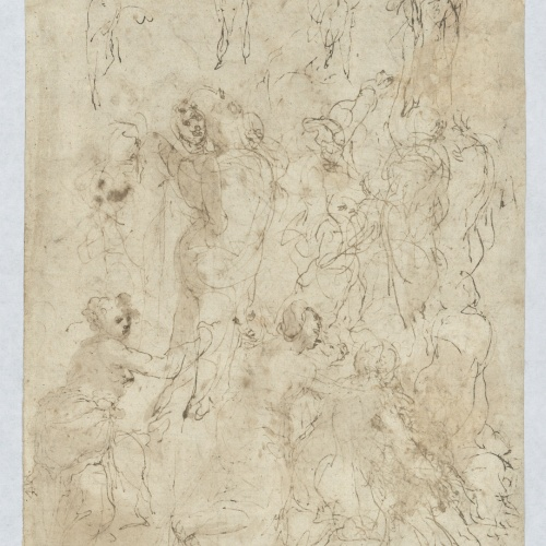 Taddeo Zuccaro - Figure sketches - 1550