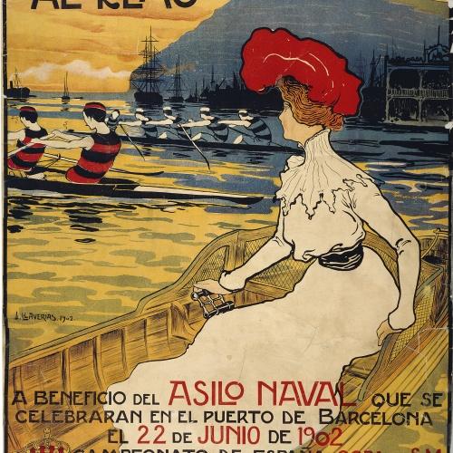 Joan Llaverias - Regatas Internacionales al remo - Barcelona, 1902