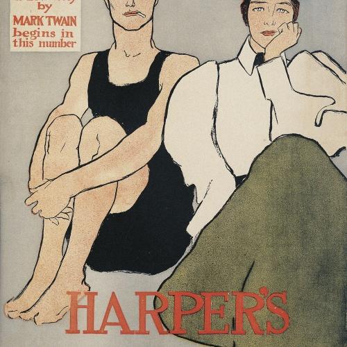 Edward Penfield - Harper's August. Tom Sawyer Detective - 1896