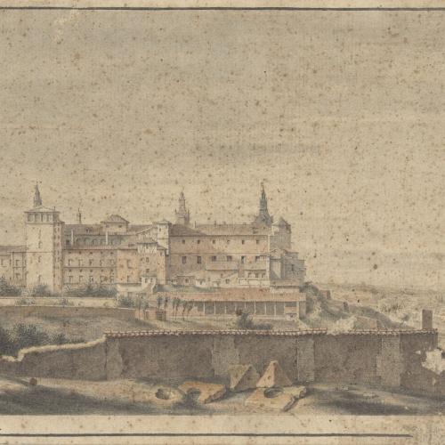 Anònim - Vista de l'Alcázar de Madrid - Cap a 1666