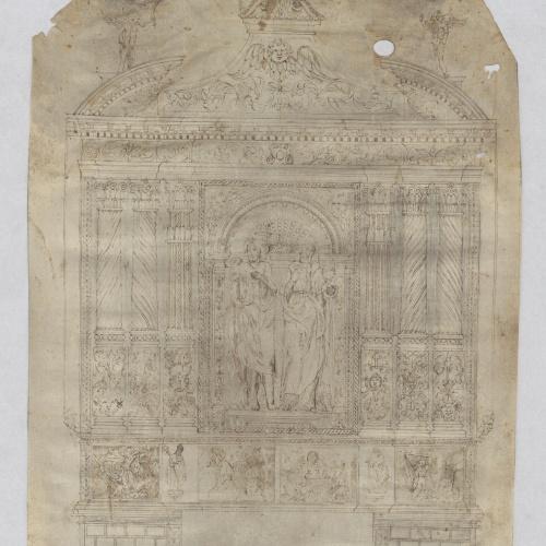 Anònim - Proyecto de retablo - Primera mitad del siglo XVII