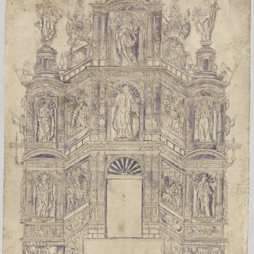 Anonymous - Project of an Altarpiece of Saint Vincent - First half of the 17th century