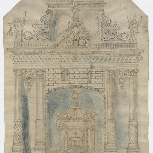 Anonymous - Project of an Altarpiece - First half of the 17th century