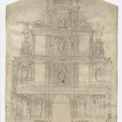 Anònim - Project of an Altarpiece - First half of the 17th century